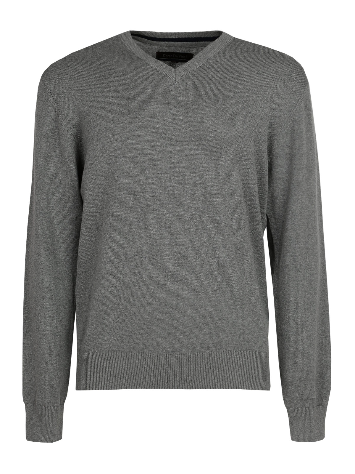 Pullover Cotton V-neck-Gray