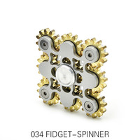 Nine Gears Hand Spinner High Quality Square Metal Creative EDC Fidget Spinner For ADHD Decompression Kids