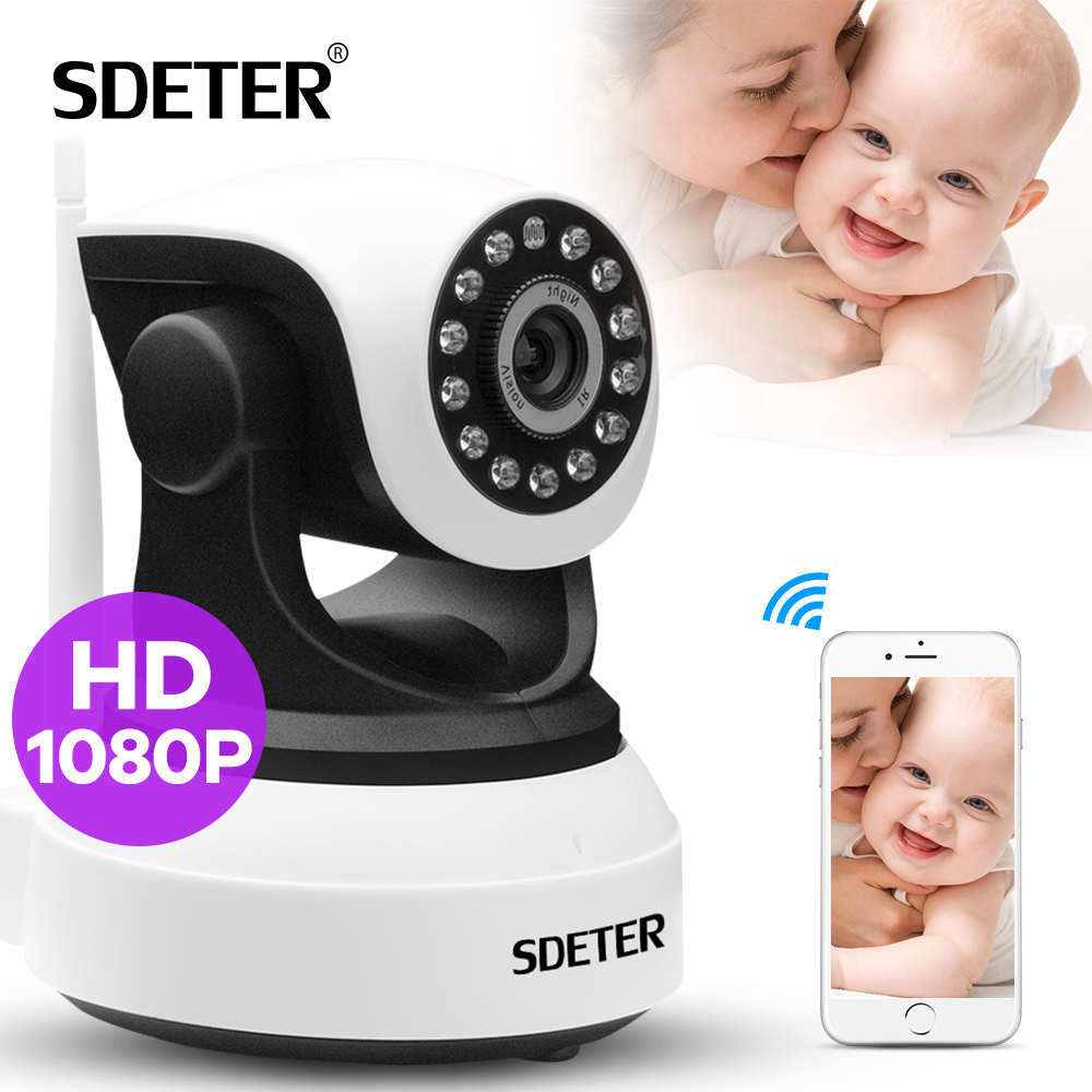 SDETER 1080 P 720 P Wireless CCTV Camera Home Security Camera Wifi Network Baby Monitor di Visione Notturna A Infrarossi TELECAMERA PTZ IP Wifi della macchina fotografica