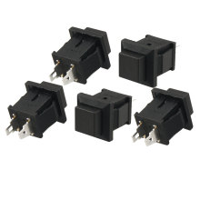 5x Black Momentary Square Push Button Switch SPST AC 125V 1A