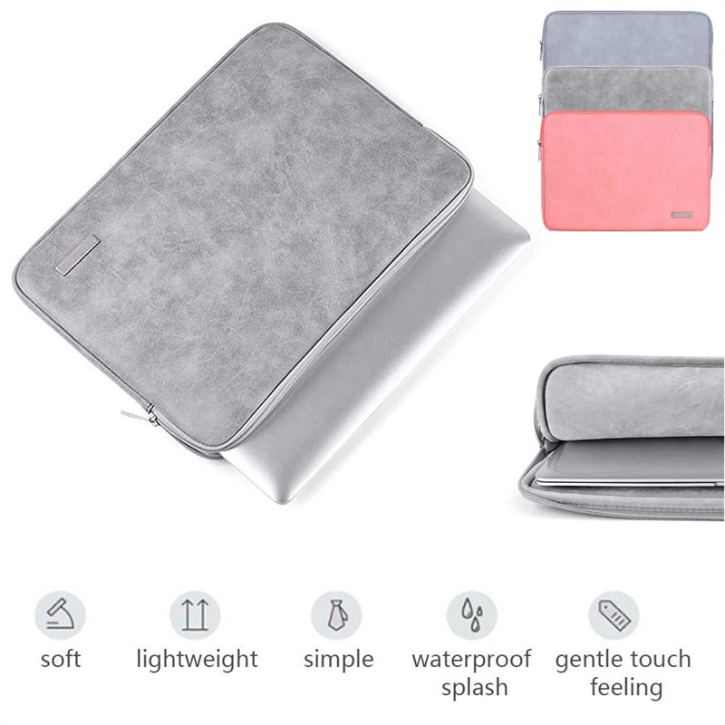 Universal 13 14 15 inch Laptop Bag Case Solid Zipper Sleeve Bag Pouch For MacBook Notebook Sleeve Bag For Dell/HP/Acer/Lenovo