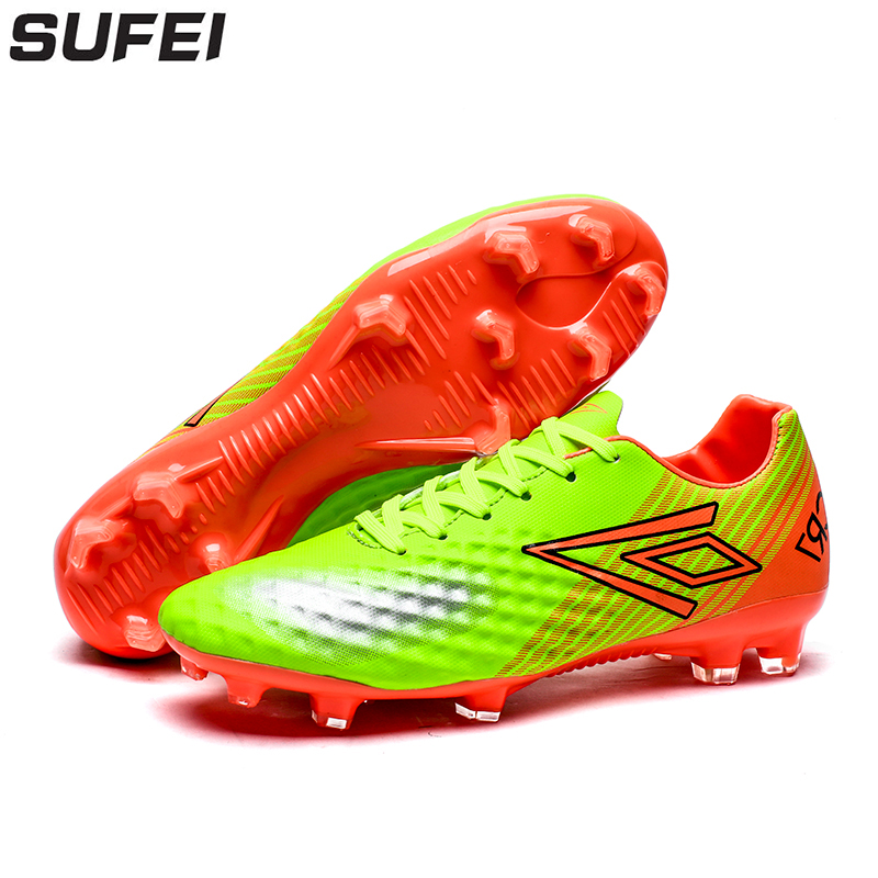 sufei Men Soccer Shoes Firm Groud Football Boots FG Superfly Low Ankle Outdoor Lawn Training Cleats Sport Trainers puma powercat 1 12 sl firm ground fg mens soccer cleats