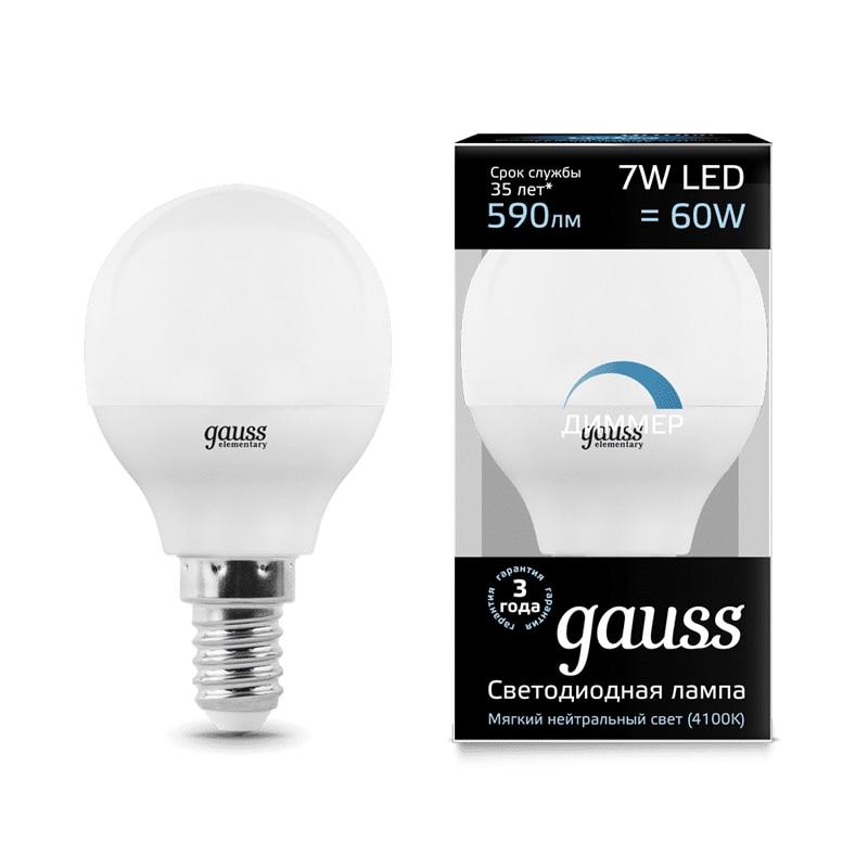 Lampe à LED ampoule boule diode dimmable E14 E27 G45 7 W 3000 K 4000 K lumière froide neutre chaude Gauss Lampada lampe ampoule globe - 3