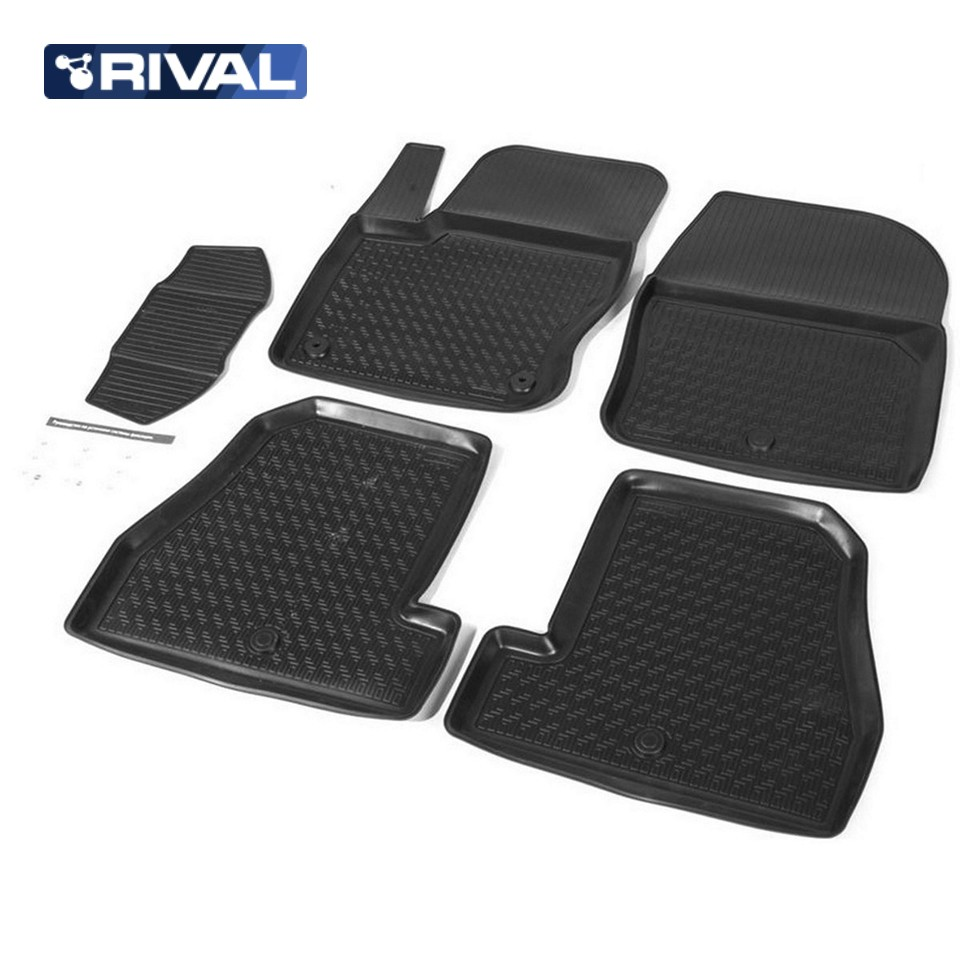 Фото - For Ford Focus III 2011-2015 floor mats into saloon 5 pcs/set Rival 11801003 коврик багажника rival для chevrolet cruze i седан 2009 2015 полиуретан 11003003