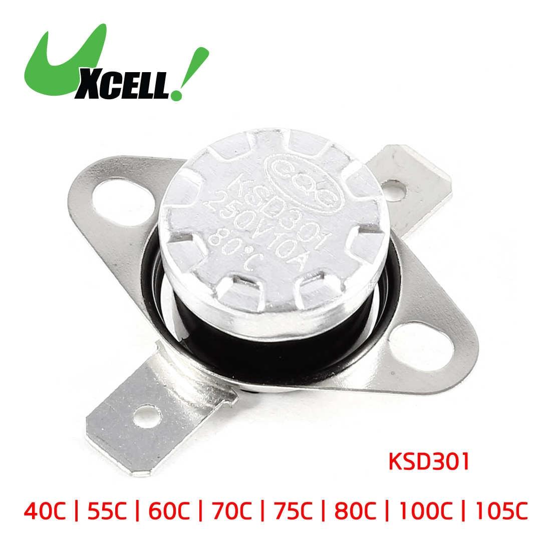 KSD301 AC 250V 10A 120C Celsius NC Temperature Control Switch Thermostat