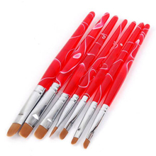 7pcs set UV Gel Nail Art Brush Polish Painting Pen Kit for Salon Manicure DIY