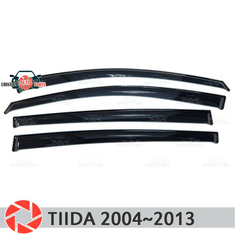 Window deflector for Nissan Tiida 2004~2013 rain deflector dirt protection car styling decoration accessories molding window deflector for mitsubisi pajero 2 1990 2004 rain deflector dirt protection car styling decoration accessories molding