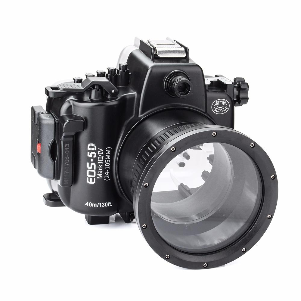 SeaFrogs 5D4 5D IV 40M 130ft Diving Waterproof Housing Case for Canon 5D III IV 5D3 5D4 Supports 24-105mm Lens DSLR Camera Bag подвесной светильник la lampada 130 l 130 8 40