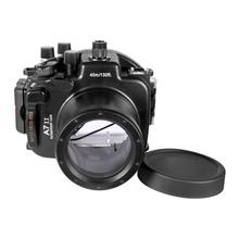 Meikon A7II A7R II Waterproof Housing Case 40M 130ft For Sony A7 II A7R II 28-70mm Camera Waterproof Housing Case for Sony aydgcam brand genuine leather camera case for sony a9 a7r m3 a7r mark iii camera bag handmade half cover handle vintage case