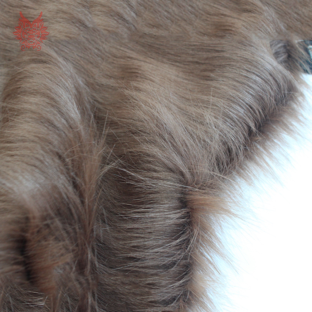 High Grade 9cm Long Hair Coffee Faux Fur Fabric For Winter Coat Vest Cosplay Stage Decor Free Shipping 150*50cm 1piece SP3759
