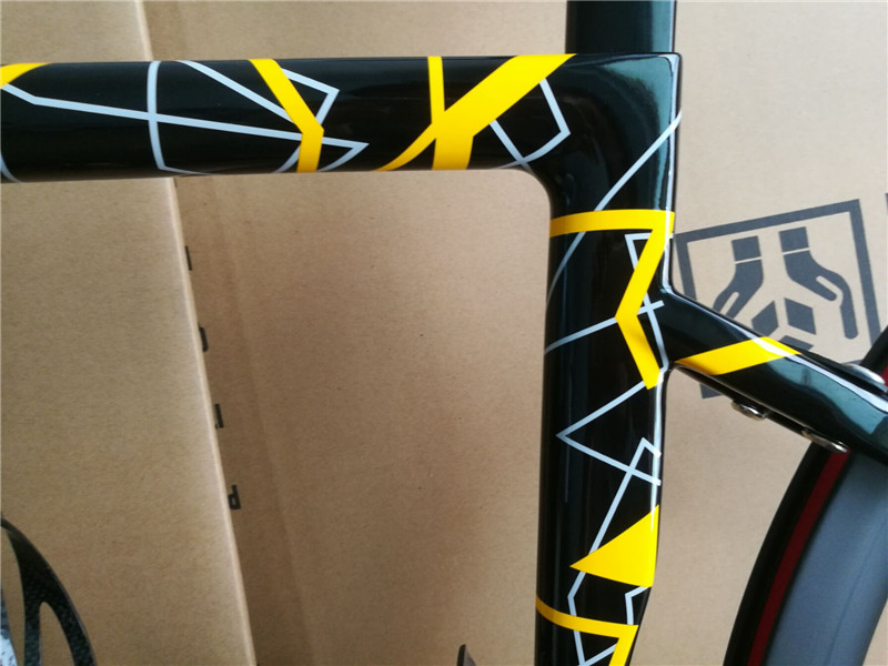 2019 1:1 Mold New products cheap carbon road bike Aero frame racing bicycle di2 chinese frameset With Choose a variety of colors