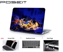 цена на For Macbook Touch Bar 13 15 Hard Case Cover Laptop Shell+Keyboard Cover+Screen Film+Dust Plugs For Air Pro Retina 11 12 13 15