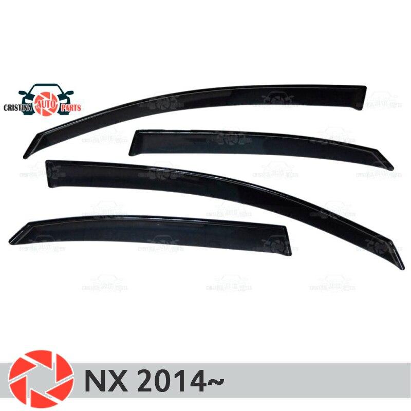 Deflector de ventana para Lexus NX 2014 ~ deflector de lluvia suciedad coche estilismo Decoración Accesorios de moldeo