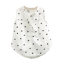 Children Baby Kids Girl Sleeveless Printing Blouse Clothes