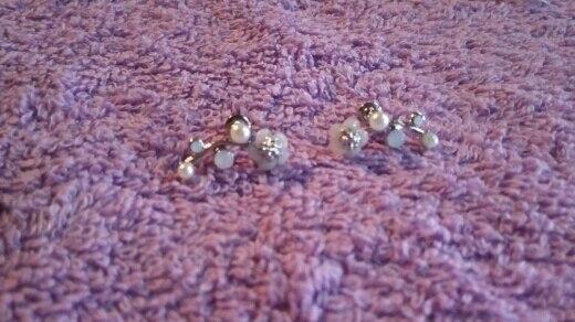 Crystal Pearl Flower Earrings photo review
