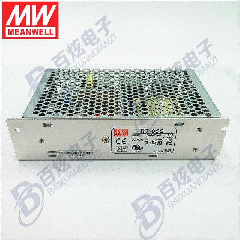все цены на Originele Meanwell  RT-85C  87.5 W Triple output +5V/7A  +15V/3A   -15V/0.5A   Voeding 3years Warranty онлайн