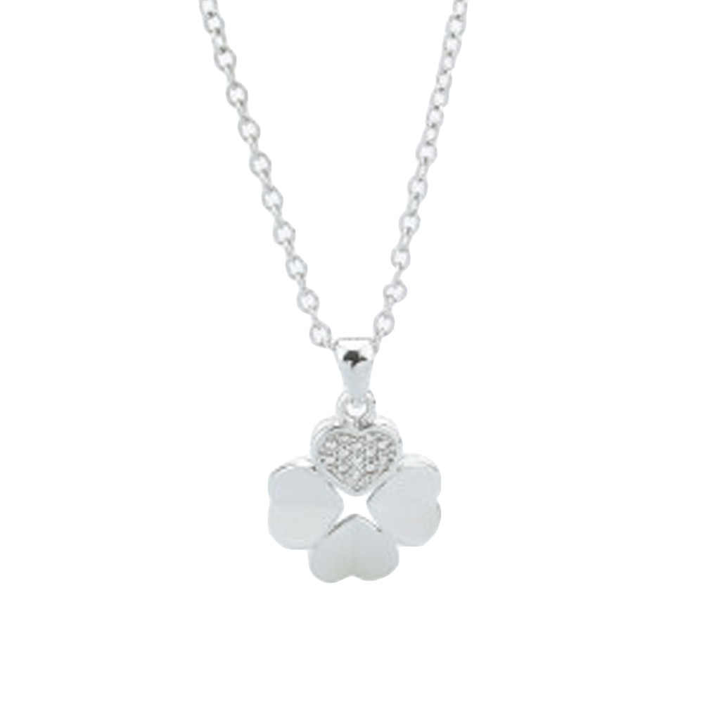 Clover Silver color Jewelry Love Clover Necklaces & Pendants Fashion Choker Necklace Women Collares