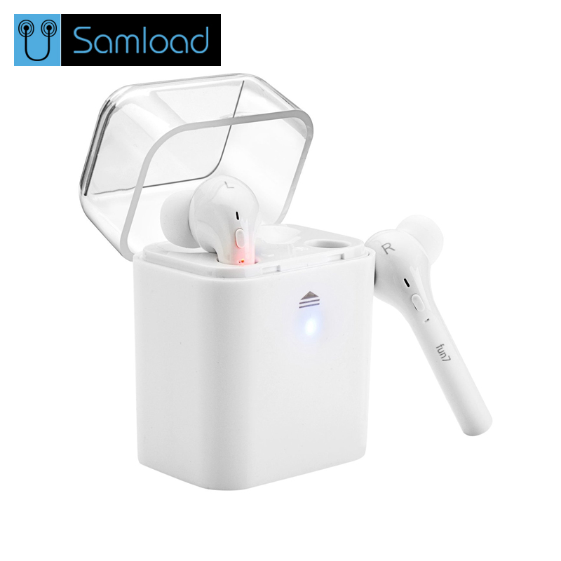 Samload TWS True Wireless Bluetooth Headset Mini Bluetooth 4.2 Wireless Earpiece Earbuds In-Ear Earphone For Iphone 7 Android