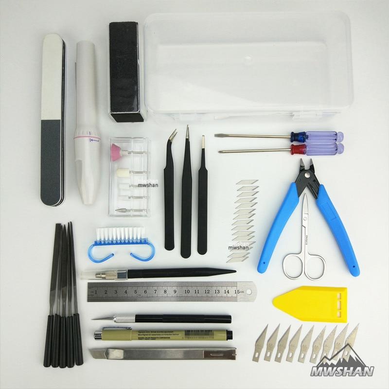 MWS Basic Tool Set for Tamiya Trumpeter Meng Gundam Palsitc Model Kits DIY Suite Of Tools Hobby Accessory