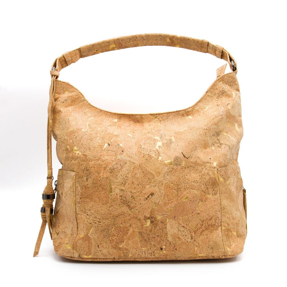 Cork Handbags: Natural Cork Fabric Bags Women With Soft PU Leather Women