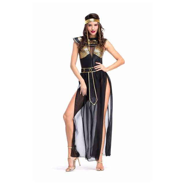 Coslive Sexy Women Bar Stage Performance Costumes Ancient Egyptian Goddess Isis Mythology Arabic Dancing Party Dress