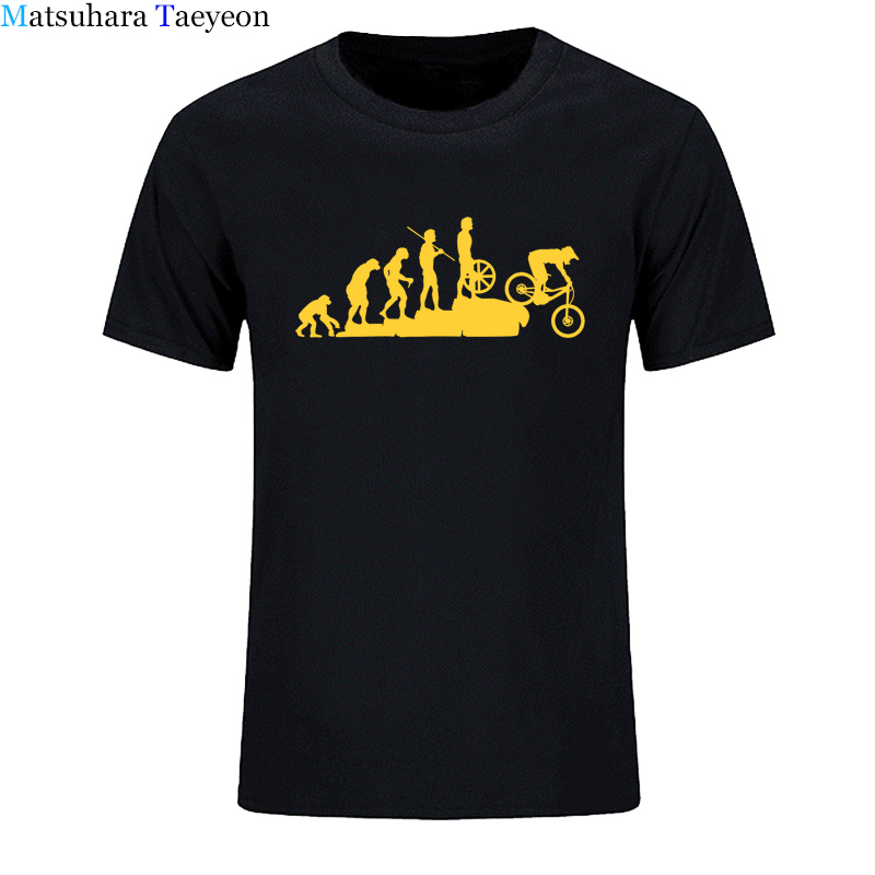 Mountain Biking Downhill Summer funny tshirt T Shirt Men Punk Tops Hipster Cotton Bicycle T-Shirt Summer Casual Short Sleeve