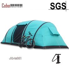 4 Season Outdoor Tunnel Camping Waterproof Large Inflatable cabana blow up 5-8 person family air tent with inflatable tube