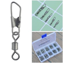 Fishing Swivel with Snap 150pcs/set Rolling Fishing Swivel with Safety Snap Stainless Steel Fishing Clips Connector Accessories