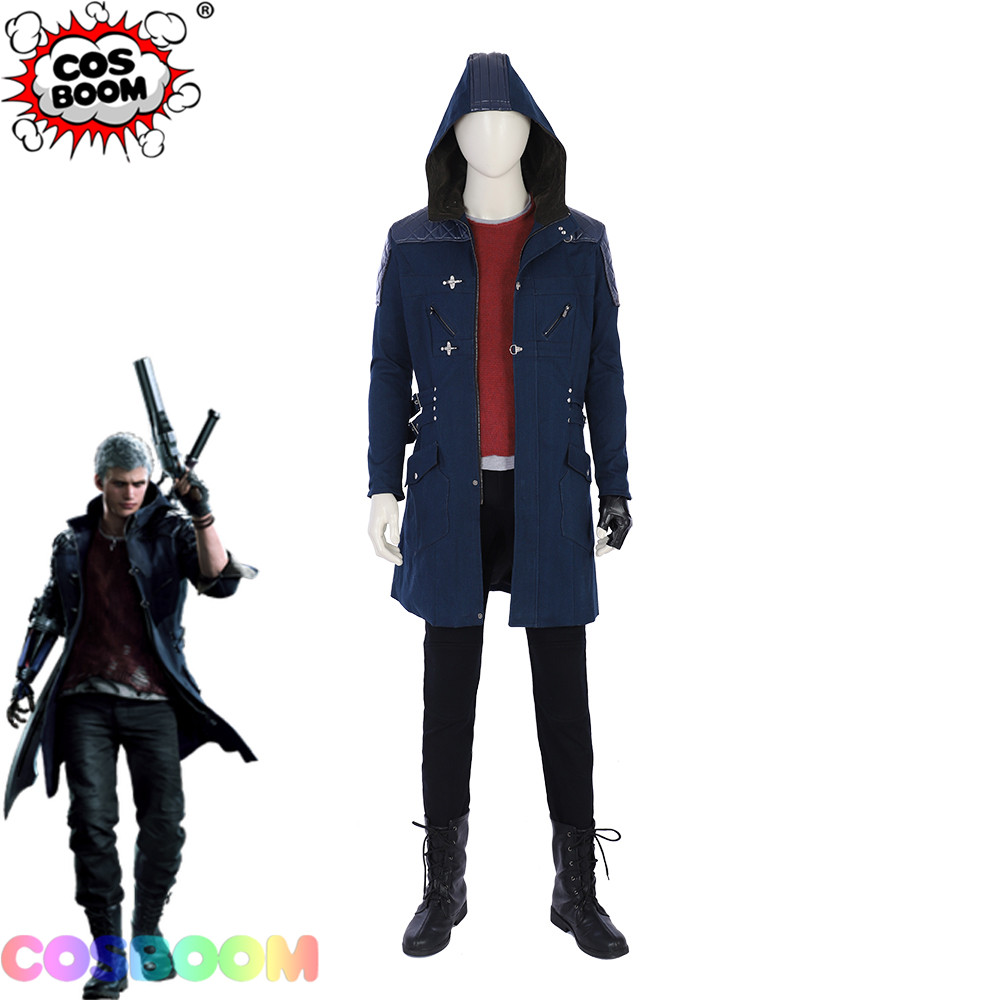 COSBOOM Nero Costume DMC 5 Adult Halloween Carnival Party Game Costume Custom Made Devil May Cry 5 Nero Men Cosplay Costume