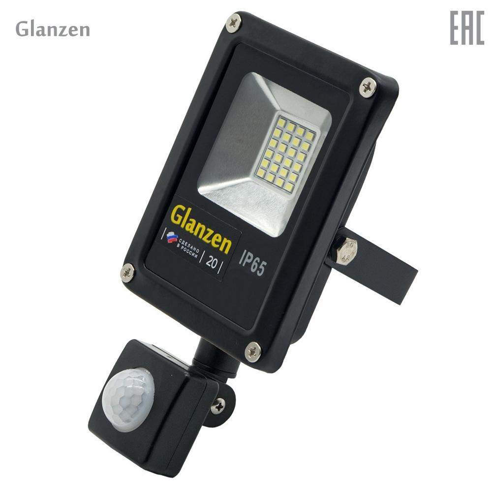 Led spotlight motion sensor  GLANZEN FAD-0011-20 portable led spotlight glanzen fad 0014 20
