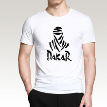 Summer 2017 Cotton T-Shirts DAKAR Men's Big Size T Shirts Short Sleeve Slim Fit Fashion Tops & Tees Male Clothing XL