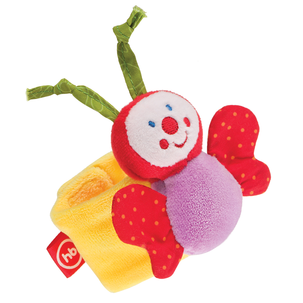 Toy-rattle on the hand Butterfly Happy Baby 330347 butterfly on the storm