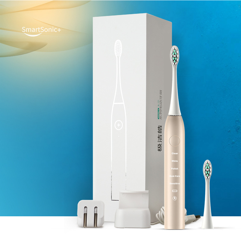 New Upgrade USB Charger Sonic Electric Toothbrush Rechargeable Ultrasonic Tooth Brush Teeth Cleaning Whitening 2 Dupont Heads 2017 220v pink a39plus 55 wireless ultrasonic electric toothbrush electric tooth brush rechargeable 4 heads teeth brush