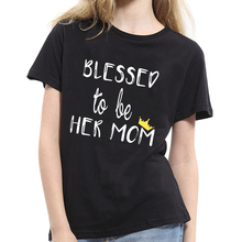 New Fashion Women English Letter Printed Tee Shirt Summer Concise Short Sleeve Cotton Brea