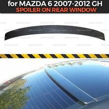 Spoiler na caixa da janela traseira para mazda 6 gh 2007 2012 abs plástico dossel especial limitada aero asa dinâmica moldagem decoração