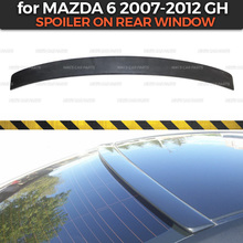 Spoiler on rear window case for Mazda 6 GH 2007 2012 ABS plastic canopy special limited aero wing dynamic molding decoration