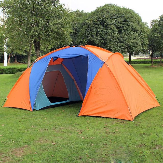 Best Deal 5 Person Family C&ing Dome Tent Canvas Swag Hiking Beach 2 Rooms Family Outdoor & Best Deal 5 Person Family Camping Dome Tent Canvas Swag Hiking ...