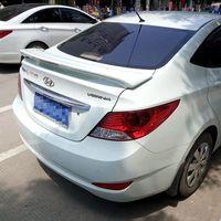 High Quality ABS Material Car Rear Wing Primer Rear Spoiler For Hyundai Verna Spoiler 2011 201Rear Wing Spoiler With Led Light