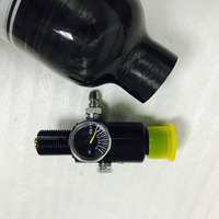Rugulator bevestigd PCP geweer luchtbuks pistool 4500psi 0.5L Composiet Koolstofvezel Lege Gas Cilinder voor air condor guns-V