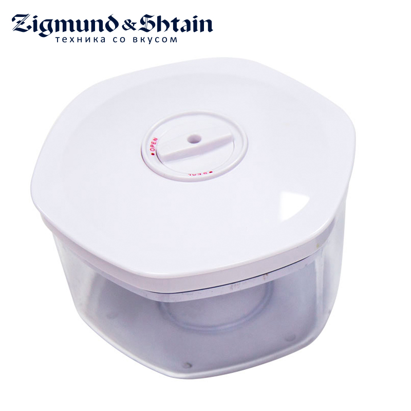 Zigmund & Shtain VC-004 Container for vacuum packers Vacuum Food Sealer 700ml To store food in a vacuum Food SAN-plastic shineye household food vacuum sealer packaging machine automatic electric film food sealer vacuum packer including 10pcs bags