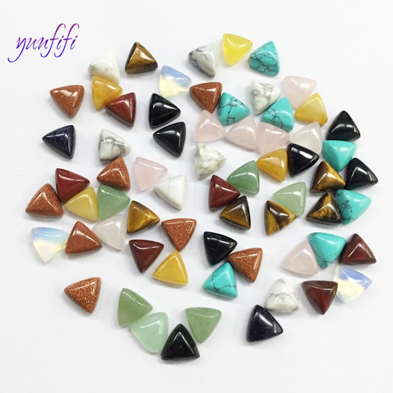 Crystal stone Diy craft supplies, mixed color natural ring loose beads Good Quality 10Pcs/lot