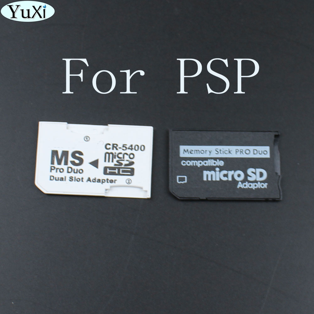YuXi  Single And Dual Slot Card Reader New Micro SD SDHC TF To MS Memory Stick Pro Duo Reader For PSP Card Adapter