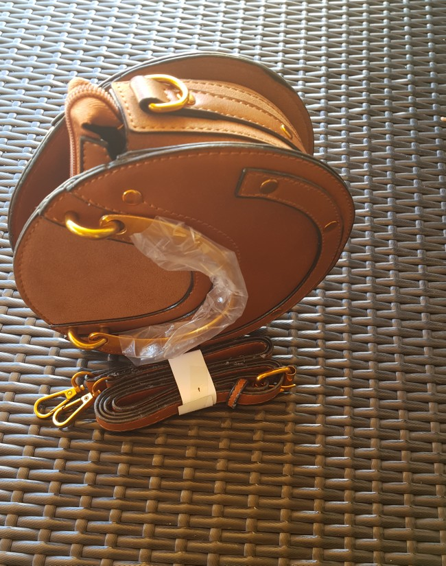 DCOS-Circular Scrub PU Leather Women Bags Retro Handbag Small Round Women Shoulder Mini Bag photo review