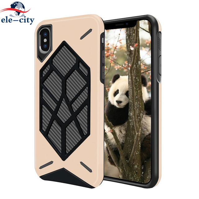 best website 5c6c2 8d350 US $3.81 7% OFF|2 In 1 Rugged Voltron PC+TPU Case for iPhone X Case Non  slip Hard PC Shockproof Phone Cases For iphone 6S 6 7 8 Plus Phone Shell-in  ...