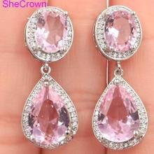 Vintage  Pink Rsapberry Rhodolite Garnet SheCrown Woman's Gift Black Gold Silver Ring 30x30mm