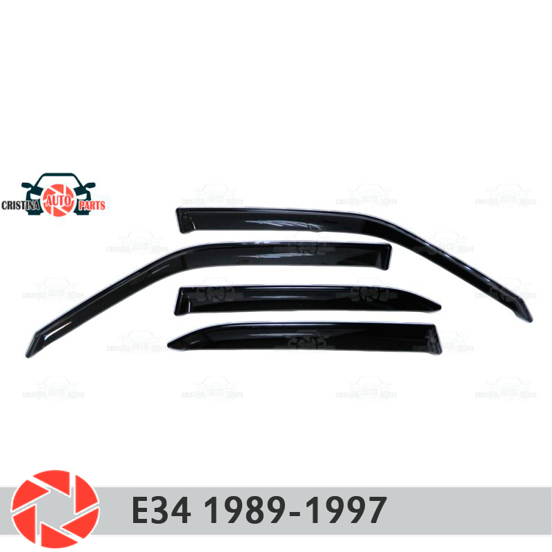 Window deflector for BMW E34 1989-1997 rain deflector dirt protection car styling decoration accessories molding car styling for bmw