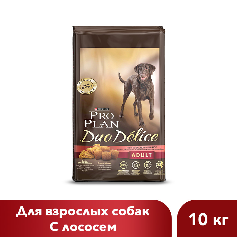 Dry food Pro Plan DUO DELICE for adult dogs with salmon and rice, 10 kg. free shipping food snack extruder puffed corn machine puffing rice machine with best price
