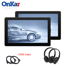 цена на ONKAR 2019 New 10.8 inch Android Headrest Monitor RAM 1GB ROM 16GB Built in WIFI FM Transmitter USB SD Card MP4/MP5/Bluetooth