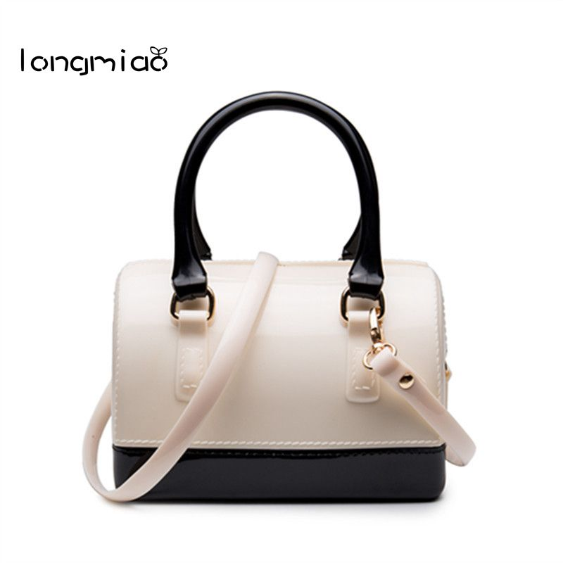 цена на longmiao Fashion Women PVC Jelly Bag Brands Designer Mini Handbags Girls Candy Messenger Beach Bags Small Crossbody Bags