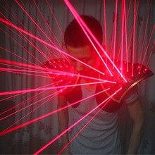 무료 배송 레드 레이저 정장, LED 조끼, 레이저 쇼를위한 빛나는 양복 조끼 레이저 장갑 안경
